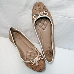 Vince camuto Lunna cork Bow ballet flats